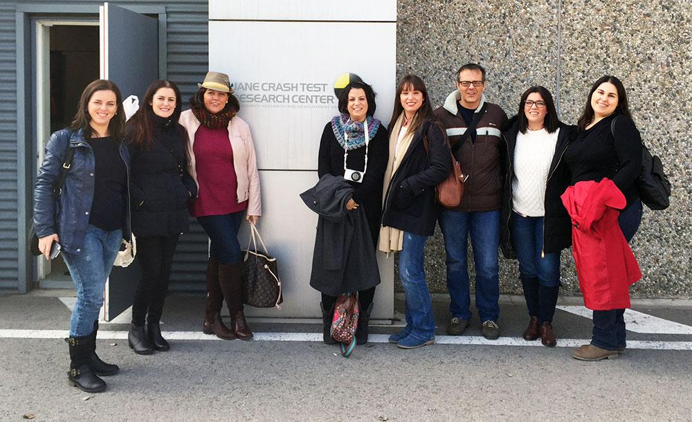 Foto con el grupo de blogueros asistentes